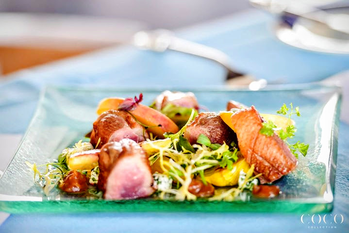 Breast of Duck with Candied Fennel, Cottage Cheese, Roast Peach, Yorkshire Relish, Chef Andrew Pern, Savour 2015