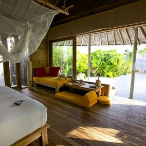 Lagoon Beach Villa with Pool, Six Senses Laamu Maldives