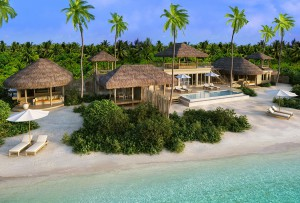 Two-Bedroom Ocean Beach Villa with Pool, Six Senses Laamu Maldives