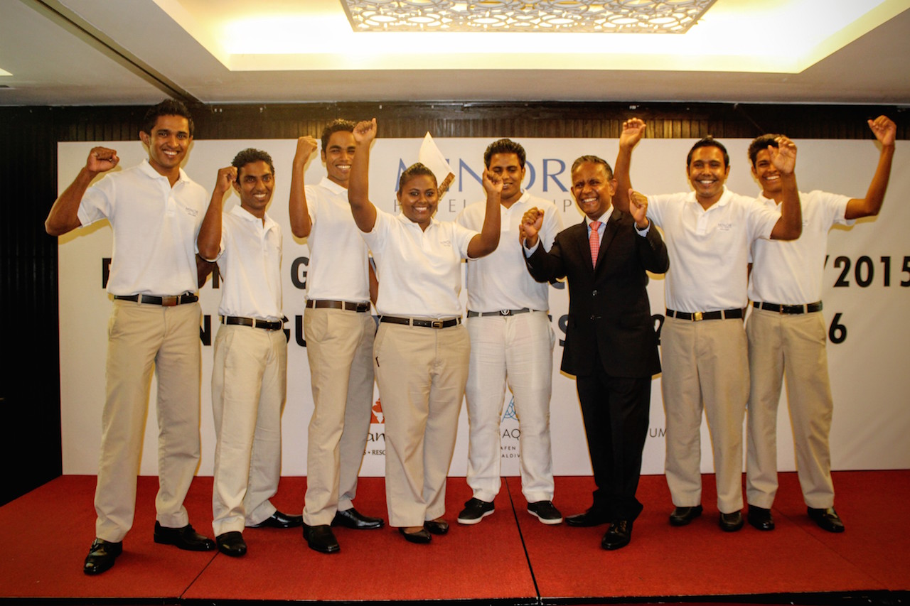 CEO Dillip Rajakarier and Explorer Graduates 2015
