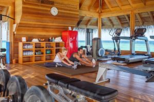 huvafenfushi maldives gym