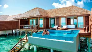 Deluxe water villa with pool, Hideaway Beach Resort & Spa