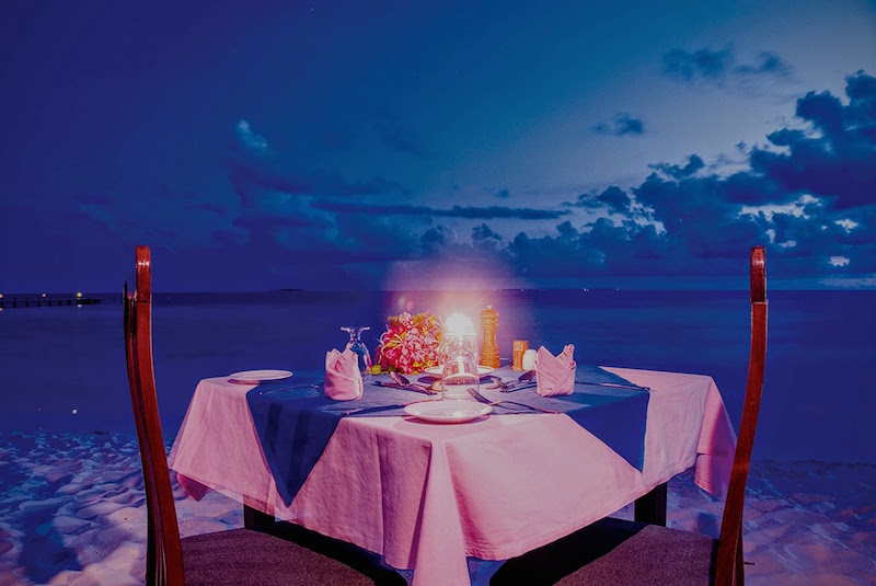 Private Beach Dining, Eriyadu Maldives Island