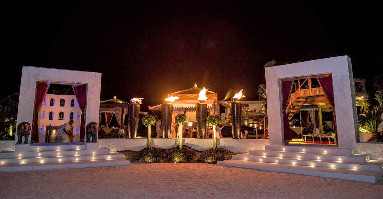 The Grand Entrance to Swarna - inspired Indian cuisine — at Jumeirah Vittaveli, Maldives