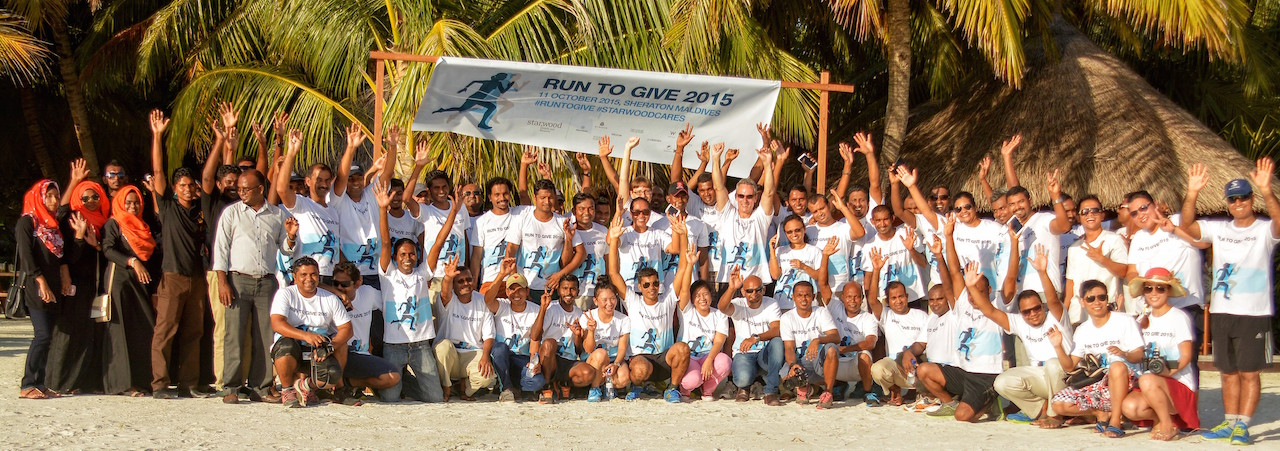 'Run to Give' charity run, Starwood Hotels & Resorts