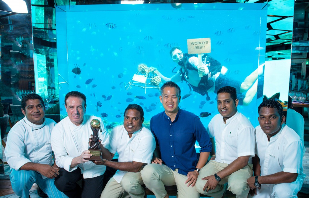 Anantara Kihavah Villas Wins World Travel Award 2015 for Best Underwater Hotel Restaurant Worldwide