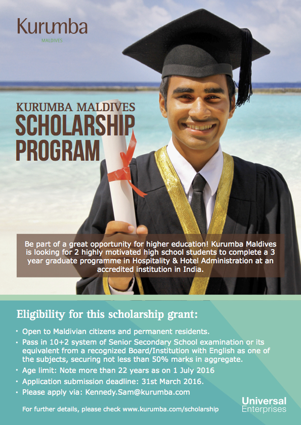 Kurumba Scholarship Flyer