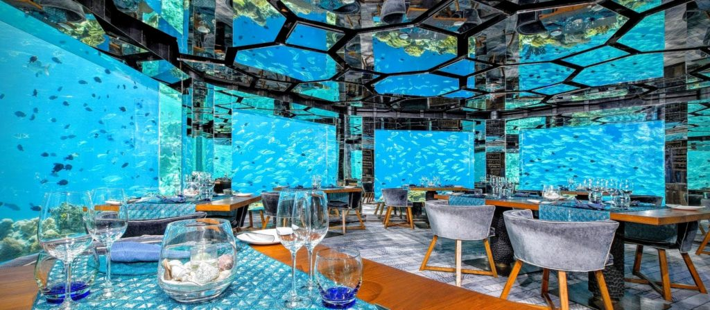 an underwater restaurant, aptly named SEA