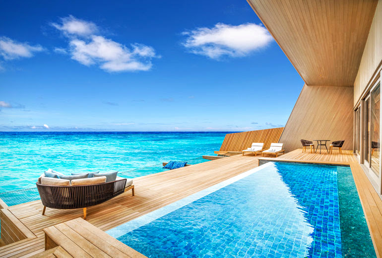 Deck of Overwater Villa with Pool, The St. Regis Maldives Vommuli Resort