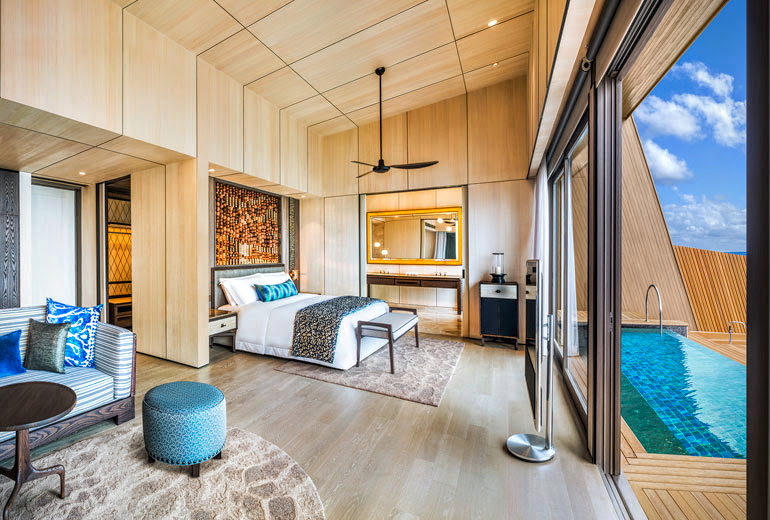 Overwater Villa with Pool Bedroom, The St. Regis Maldives Vommuli Resort