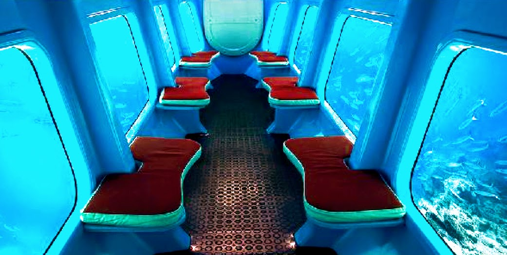 The semi-submersible submarine interior
