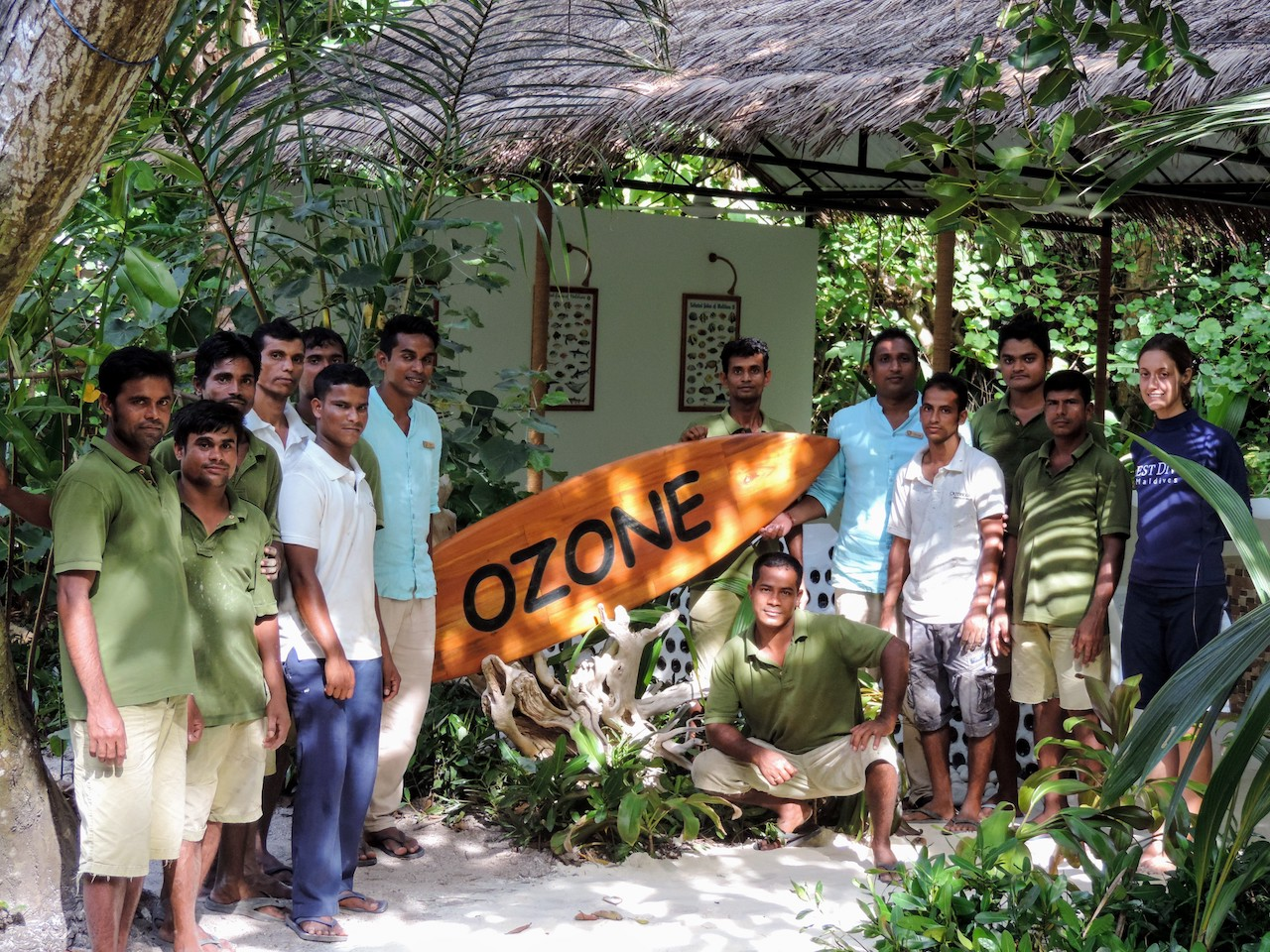 The sustainable OZONE Hut – made for presentations and talks on marine life at the Outrigger