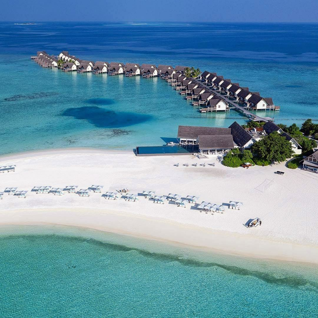 Aerial, Four Seasons Resort Maldives at Landaa Giraavaru