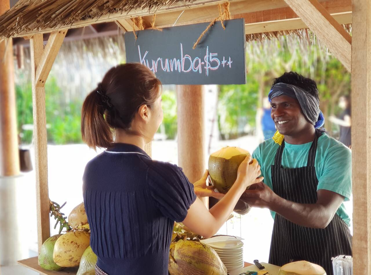 COCONUT WATER POP-UP - IMAGE CREDIT FUSHIFARU MALDIVES