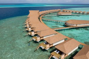 Sunset Water Bungalow with Jacuzzi at Cinnamon Velifushi Maldives