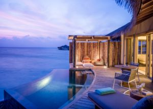 Sunset Overwater Pool Villa at InterContinental Maldives Maamunagau Resort